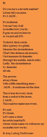 The Poem Farm: It's Pi Day! Celebrate 3.14159.........