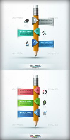 Modern Infographic Options Banner (2 Colors) Template #design Download: http://graphicriver.net/item/modern-infographic-options-banner-2-colors/9858096?ref=ksioks