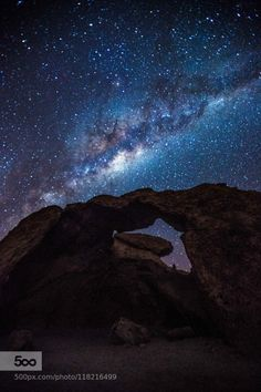 Milkyway at Rock Arch Namibia. by Joseph_LU Orte Afrika Milchstrasse Namibia Natur Joseph_LU