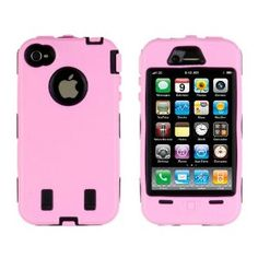 Body Armor for iPhone 4/4th Generation - Light Pink/Black