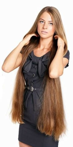 Actually, my hair is about this color, I think? and almost this long.... but since I am a bit older, it is not as thick..... I keep the ends trimmed and that always help it look better!
