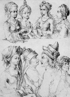 Sketches by Martin Schongauer. Tags: #Martin #Schongauer #Sketch #Renaissance