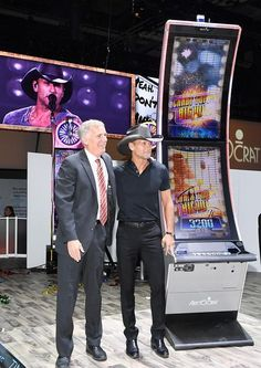 Tim McGraw and Aristocrat Reveal New Tim McGraw Video Slot Game at Global Gaming Expo (Photo credit: Denise Truscello / WireImage).
