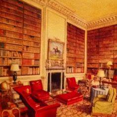 The library at Ditchley after Nancy did it over.