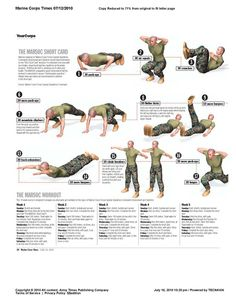 Takes me back to basic training workouts in the Army. I was in the best shape of my life while I was in the military.