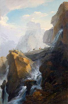 Caspar Wolf | Landscape with Waterfall,