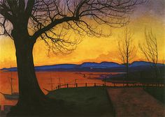 Evening, Akershus by Harald Oskar Sohlberg on Curiator, the world's biggest collaborative art collection. Nordic Art, Scandinavian Art, Nocturne, Landscape Art, Landscape Paintings, Art Paintings, Dulwich Picture Gallery, European Paintings, Art Moderne