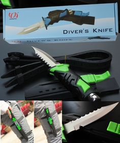 Sharp Tip Military Diving Snorkeling Diver Knife Scuba Gear Equipment Army                                                                                                                                                                                 More