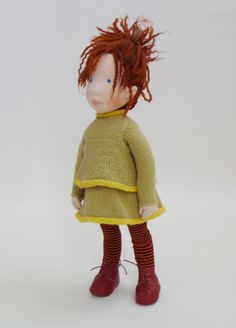 Nora / cloth doll by AldegondeCeelen on Etsy, $500.00
