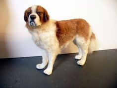 Dollhouse-Miniature-Saint-Bernard-Dog
