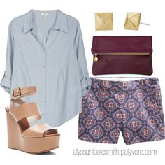 """""""Effortless Summer Outfit"""" by alyssanicolesmith on Polyvore"""