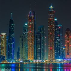 Dubai Skyscrapers by Alexander V Dubai Skyscraper, Dubai City, Dubai Uae, Futuristic Architecture, Amazing Architecture, City Photography, Landscape Photography, Photographie New York, City Wallpaper