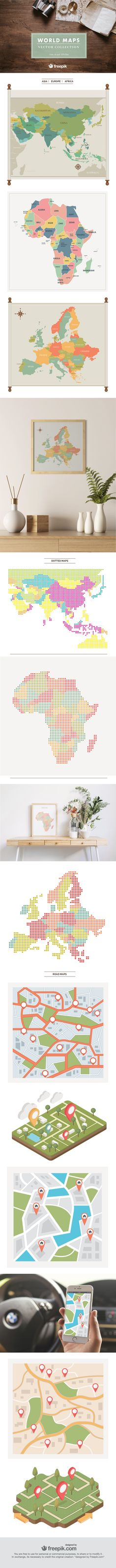 Usa map my freepik pinterest the world is at your feet with the freepik world maps vector collection freebie freepik gumiabroncs Choice Image