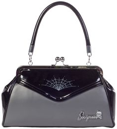 Spiderweb Backseat Baby Purse Retro Rockabilly Psychobilly Pinup http://www.inkedboutique.com