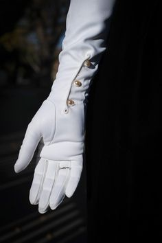 1960s White Opera Gloves with Pearl Closure by SweetJubileeGirls, $21.00