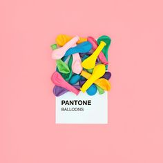Product styling and photography ideas and inspiration. I love this Birthday Pantone concept made up of coloured water balloons on a pink background. Stylist and photographer unknown. Web Design, Design Art, Graphic Design, Affinity Designer, Pantone Color, Color Inspiration, Bunt, Color Schemes, Illustration