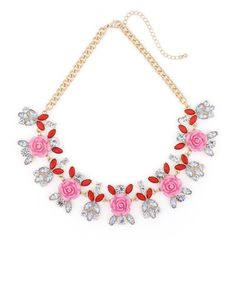 The Rosette Gem Necklace by JewelMint.com, $29.99