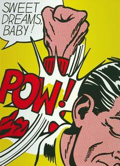 Roy Lichtenstein - Sweet Dreams Baby!, 1965. Colour serigraph on paper