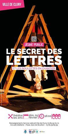 """Spectacle """"Le secret des lettres"""" le 5 février 2017 à Cluny : http://clun.yt/2iSdzCw"""