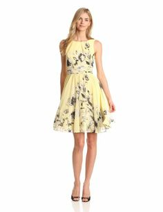 Seriously considering purchasing ---- Amazon.com: Eliza J Women's Sleeveless Fit And Flare Printed Dress: Clothing