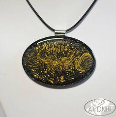 ArtDagmar / Čierno-zlatý medailón