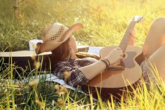 Country with a guitar... I want to take a picture like this.. My two favorite things.