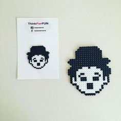 Charlie Chaplin hama mini/midi beads by thinkforfun                                                                                                                                                     More