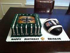 Saints football cakes