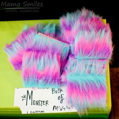 DIY Monster Book of Monsters Harry Potter party activity.