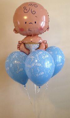 figura de bebe en globo