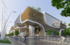 "Vincent Callebaut Proposes ""Wooden Orchids"" Green Shopping Center for China"