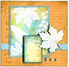 Leaf Selection, leaf names, english leaves. Leaves Name, Thanksgiving Cards, Fall Cards, Cardmaking, Stamps, English, Inspired, My Love, Nature