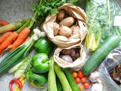 Contents of our summer #vegboxes