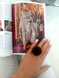Reading Magazines at AVANTI FURS store in Limassol!!!!