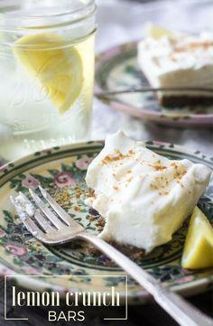 No-bake Lemon Crunch Bars combine lemon and ginger for a simple, zingy dessert