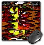 Rust, Orange, Yellow, Green and Brown Liquefied and Swirled with a Crackled Background Mouse Pad