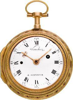 Starožitnosti: Pocket (pre 1900), Vaucher Gold & amp;  Smalt Quarter Opakování Verge Fusee, circa1800.  ...