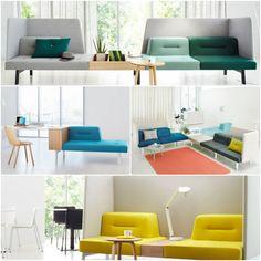 Modulares Sofa, Aber Nicht Im Wohnraum, Sondern Im Büro