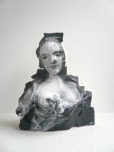 Belle , 2008,plaster, polystyrene,paper,H55 x W63 x D24cm