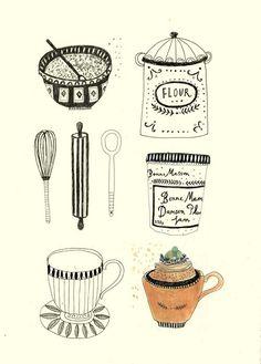 Making cakes. Katt Frank. Postres, tartas, cocina. ¿Qué objetos reconoces? ¿sabes los nombres? qué ingredientes se necesita para hacer un postre. ¿Cuál es tu postre favorito?