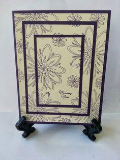 Missing You.  Dark purple and cream.  Beautiful!  www.facebook.com/KatherinesHandmadeCreations