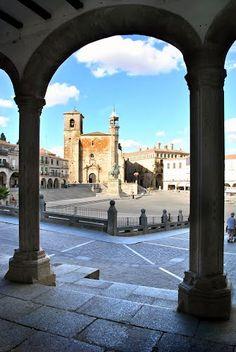 Trujillo -  Plaza Mayor Caceres  Spain