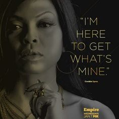 It's Cookie, Bitch. My new addiction. #EMPIRE