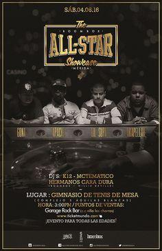 Line Up: Apache – Lil' Supa – Akapellah – Gona El ALL STAR SHOWCASE reúne en un mismo escenario a los artistas de mayor proyección del movimiento hip hop latino. logrando record de taquilla en sus dos ediciones en Maracay en Diciembre de los años 2014 y 2015, con gran aceptación de la crítica y …