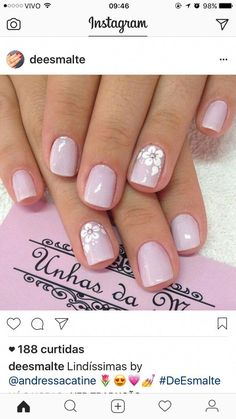Decorado sencillo pero con clase in 2020 Cute Toe Nails, Fancy Nails, Cute Acrylic Nails, Pink Nails, My Nails, Stylish Nails, Trendy Nails, Floral Nail Art, Toe Nail Designs