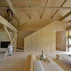 OFIS remodels alpine barn apartment into contemporary loft space
