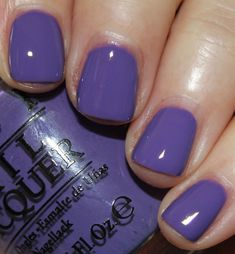 Lost my Bikini In Molokini is a bright cool-toned purple creme. I just wore this color over the weekend and I love it. This has a great formula and covers in two coat