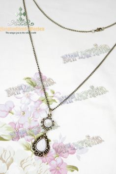 Gothic Elegant White Crystal Necklace*Instant Shipping