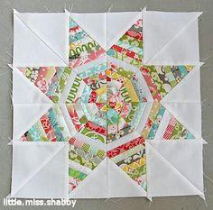 string star quilt block tutorial from little miss shabby