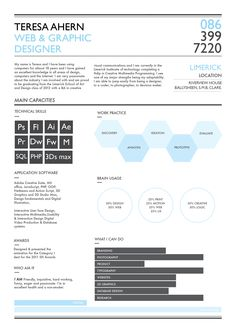 page 1 of cv design